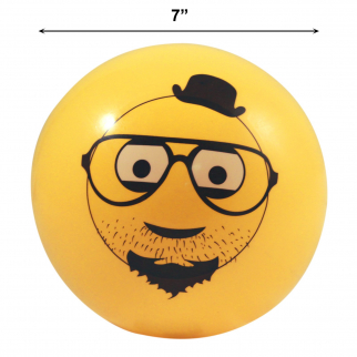 Inflatable Emoji Party Pool Beach Ball for Outdoor Adult and Kid Fun - Hipster