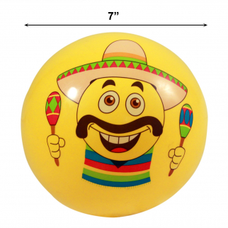 Inflatable Emoji Party Pool Beach Ball for Outdoor Adult and Kid Fun - Maracas