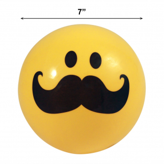 Inflatable Emoji Party Pool Beach Ball for Outdoor Adult and Kid Fun Mustache 2