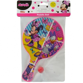 Disney Minnie Mouse Deluxe Paddle Ball Indoor Outdoor Family Travel Toy Game