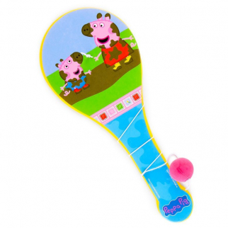Peppa Pig Paddle Ball Indoor Outdoor Family Travel Toy Game