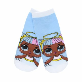 LOL Surprise Girls Ankle Socks Size 6-8.5 - Blue