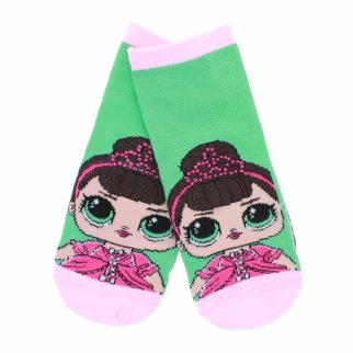 LOL Surprise Girls Ankle Socks Size 6-8.5 - Green