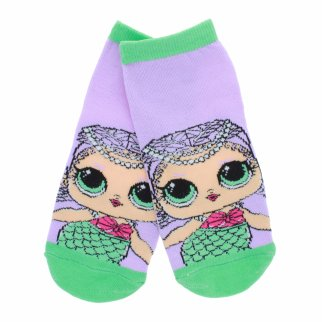 LOL Surprise Girls Ankle Socks Size 6-8.5 - Purple
