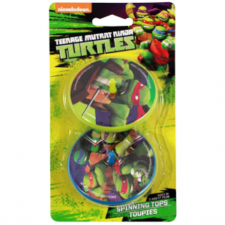 Teenage Mutant Ninja Turtles Spinning Tops 2 pack Toy Boys Themed Birthday Party Favor or Stocking Stuffer