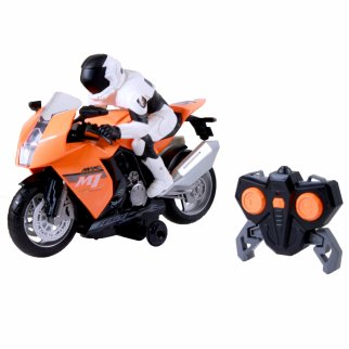 RC Motorcycle with Light and Sound Orange