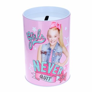 JoJo Siwa Kids Tin Piggy Bank Learning Savings