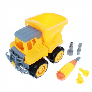 DIY Construction Assembly Set with Dump Truck