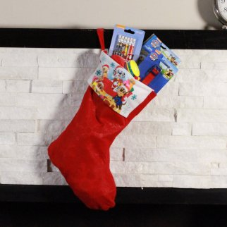 Paw Patrol Kids Christmas Stocking Filled with Toys 24 Pieces