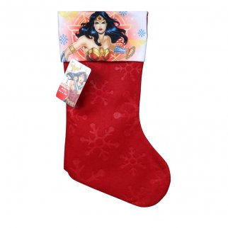 DC Comics Wonder Woman Kids Christmas Stocking Home Decor 15.5 In
