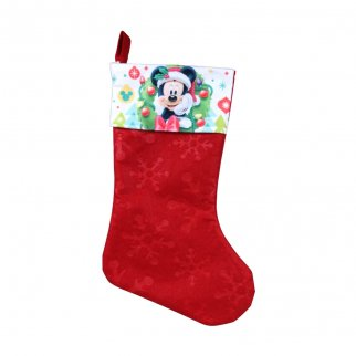 Mickey Mouse Kids Christmas Stocking Home Decor 15.5 In