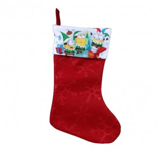 Despicable Me Minions Kids Christmas Stocking Home Decor 15.5 In