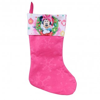 Minnie Mouse Kids Christmas Stocking Home Decor 15.5 In