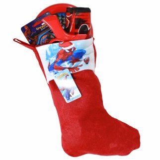 Spiderman Kids Christmas Stocking Filled with Toys 4 Pieces