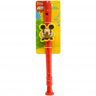 Licensed Disney Mickey Mouse Flute Recorder Music instrument Toy Red