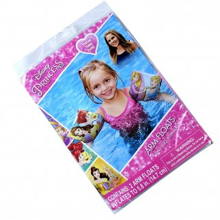 Disney Princess Inflatable Arm Floaties Girls Summer Pool Floats with Repair Kit