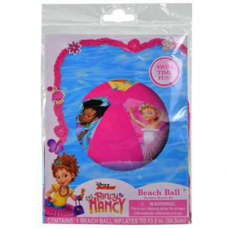 Disney Fancy Nancy Inflatable Beach Ball Girls Summer Pool Toy with Repair Kit