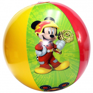 Disney Mickey Mouse Kids Beach Toys Inflatable 13.5 Inch Beach Ball - Yellow