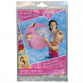 Disney Princess Pink Inflatable Beach Ball Girls Summer Pool Toy with Repair Kit