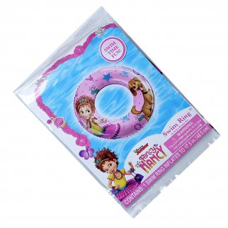 Disney Fancy Nancy Swim Ring Inflatable Girls Summer Pool Float with Repair Kit