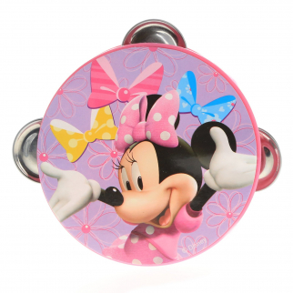 Disney Minnie Mouse Kids Tambourine Educational Musical Instrument Toy Gift