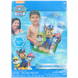 Nickelodeon Paw Patrol 15 x 26 Kids Inflatable Pool Float Water Raft