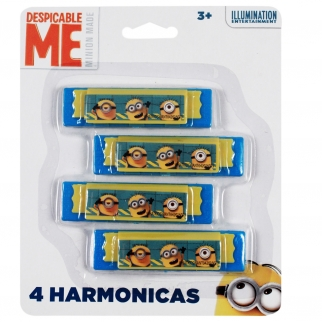Officially Licensed Minions Yellow and Blue Harmonica Party Favor or Stocking Stuffer Music Toy