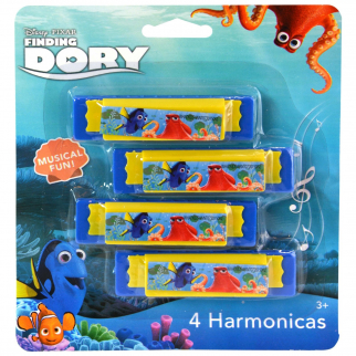 Disney Pixar Finding Dory Stocking Stuffer or Party Favor Toy Harmonica 4 pack Toy Instrument
