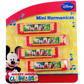 Officially Licensed Disney Mickey Mouse Red Harmonica Party Favor or Stocking Stuffer Music Toy