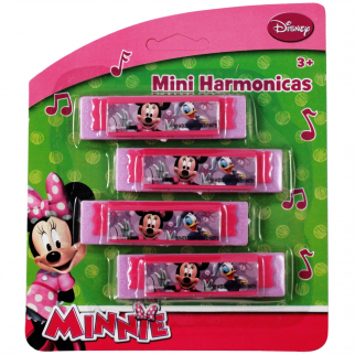 Disney Minnie Mouse Mini Harmonica Music Instrument Toy 4pk