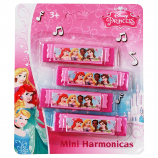 Disney Princess Aurora, Ariel, Tiana, Belle Musical Girls Instrument Toy Harmonica Party Favor or Stocking Stuffer 4 pack