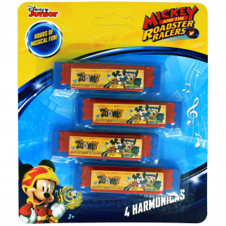 Disney Mickey Mouse Boys Mini Harmonicas Kids Musical Instrument Toys - Blue