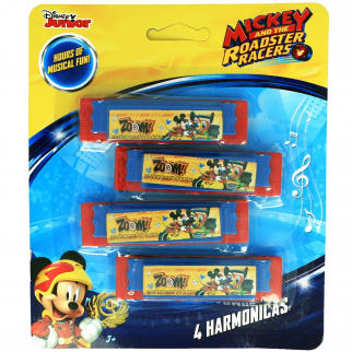 Disney Mickey Mouse Boys Mini Harmonicas Kids Musical Instrument Toys - Red