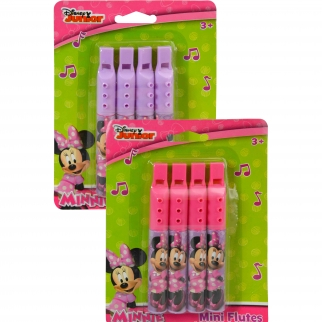 Officially Licensed Disney Minnie Mouse Pink Mini Flute 2 Pack Party Favor or Stocking Stuffer Girls Music Toy