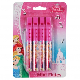 Disney Officially Licensed Princess Snow White, Rapunzel Girls Themed Birthday Party Favor or Christmas Stocking Stuffer Pink Musical Mini Flute Toy