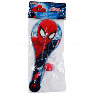 Marvel Spiderman Paddle Ball Classic Childrens Toy Party Favor for Themed Birthday Boys Super Hero