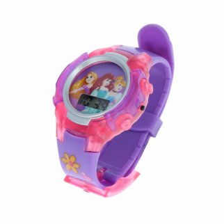 Disney Princess Adjustable Light Up Flashing LCD Wrist Watch