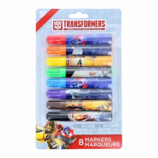 Transformers Licensed Art 8pc Kids Mini Felt Marker Set