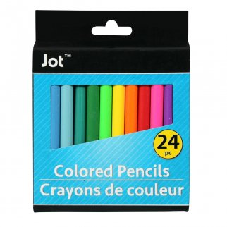 Jot 24 Piece Count Mini Colored Pencil Kids Art School Suppl