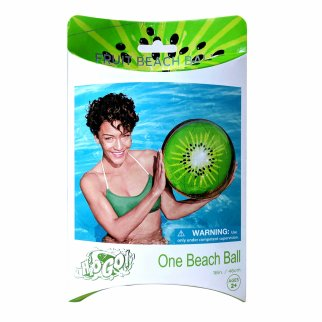 TychoTyke H2O GO Inflatable Fruit Beach Ball Kiwi Beach and Pool Outdoor Toy