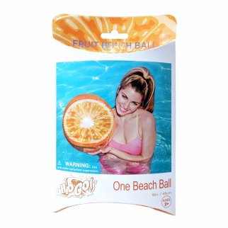 TychoTyke H2O GO Inflatable Fruit Beach Ball Orange Beach and Pool Outdoor Toy