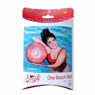 TychoTyke H2O GO Inflatable Strawberry Fruit Beach Ball Toy