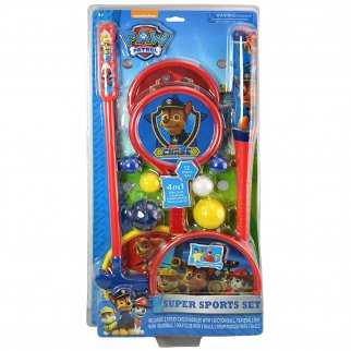 Nickelodeon Paw Patrol Kids 4 in 1 Super Sports Toys Set Golf Baseball Catch