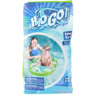 "Inflatable Kiddie Raft Pool Float for Children - 40"" x 27"" - Green"