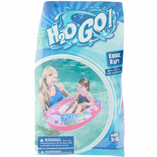 "Inflatable Kiddie Raft Pool Float for Children - 40"" x 27"" - Pink"