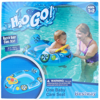 KidPlay Products H2O Go Racer Baby Care Pool Seat - Blue