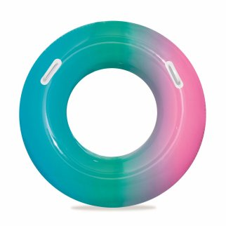 TychoTyke H2O GO Inflatable Swim Ring Pastel Ombre Pool Toy