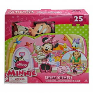 Disney Minnie's Pet Salon Foam Puzzle Mat Playroom Decor Featuring Puppy Bella, Daisy Duck, and Figaro