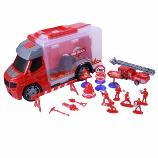 Construction and Rescue Tools Truck with Light Sound Red