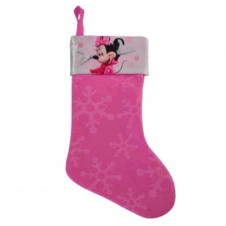 Disney Officially Licensed Minnie Mouse Bowtique xmas kids girls holiday stocking 18 inches satin cuff